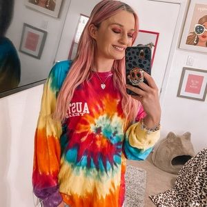 Exist Austin texas tie dye long sleeve size small